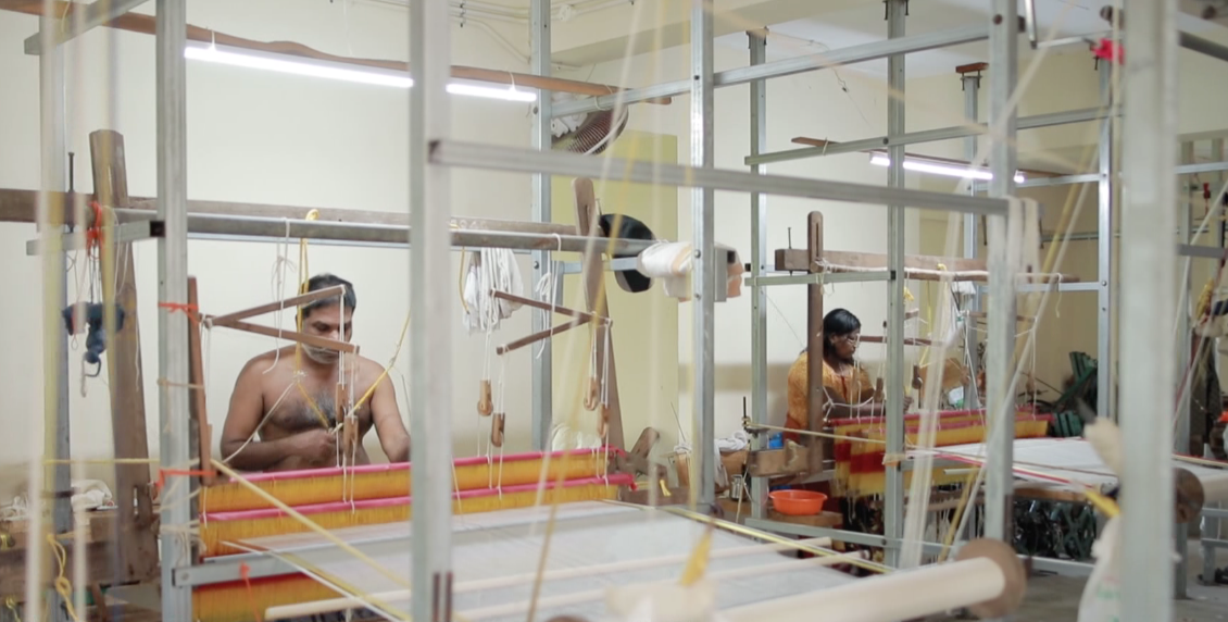 From yarn to genuine handloom products…